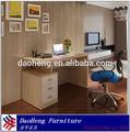 2014 moderna casa de diseño de escritorio de oficina escritorio de la computadora con la madera del grano de papel