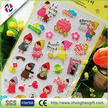 Cute Cartoon Epoxy Resin Sticker Decorate Scrapbook