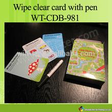 Wt-cdb-982 pulire- flash chiaro carte con box per i bambini educativi