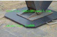 Recycled high density polyethylene crane outrigger pads