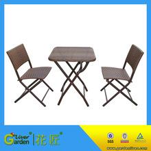 Garden set folding bistro table chair set outdoor folding cafe furniture wholesale