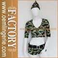 atacado mulher dois pedaços uniformes do exército sexy traje militar