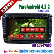 Skoda octavia navigation dvd player with GPS Bluetooth TV 3G WIFI Android car radio2005 2006 2007 2008 2009 2010