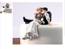 "Wedding Cake Topper ""So Much in Love"" Bride and Groom Wed"
