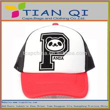 promotional 2014 new design with p panda ventilate unisex mesh cap