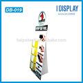 personalizado material de papel de cartón pantalla standee con cajas de diseño para el folleto de publicidad
