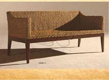 modern water hyacinth natural rattan long sofa