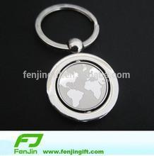 promotion rotational globe keychain