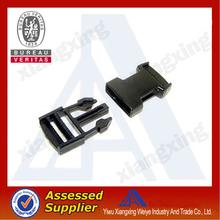 Economy top quality black plastic contoured side release plastic buckles