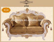 lifestyle nice confortable elegant velvet gold leaf fabric sofa set