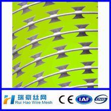 2014 ISO certificate zinc alloy razor barbed wire10m/16m/20m