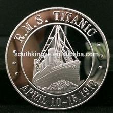 Nice design .999 silver plated metal craft nice metal craft titan