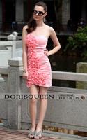DORISQUEEN MOQ 2pc wholesale New Arrivals Summer Sheath Short pink cocktail dress
