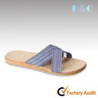 HC-403 EVA sole arch support men natural flax sandals summer