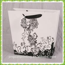 2014 popular noble lace flower printing paper shopping bag,clothing bag.gift bag