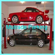 Mechanical Four Post Car Lift 2 Levels