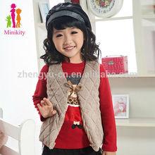stock cute girls fur vest for winter