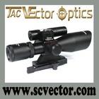 Vector Optics Sideswipe 2.5-10x40 Green Laser Long Hunting Range Rifle Scope Riflescope Rangefinder