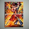 dança de pessoas pintura a óleo moderna