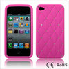 Luxury Glitter Bling Diamond Silicone Case For iPhone 4G Hot Pink-595