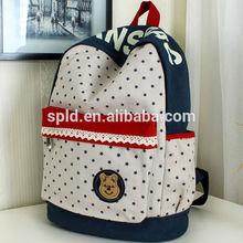New arrival Bear & Star Unisex school bag 2014 fashion backpack sample