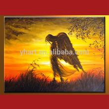 Popular Modern Handmade Abstract Canvas Angel Painting