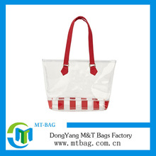 2014 New style promotional clear pvc tote beach bag