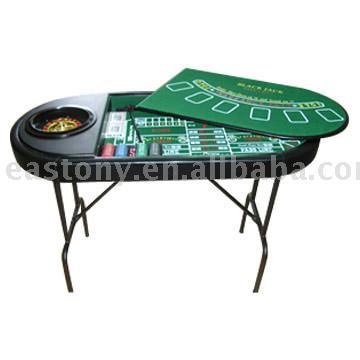3-in-1 Casino Set,poker chip set,gambling set,roulette wheel set,casino chip set
