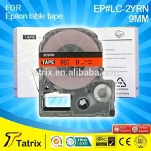 9mm red label tape SC9RW for Epson LW300 LW400 label maker, compatibel for Kingjim teprapro printer