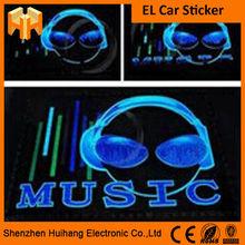 Hot Selling 45cm*11 Cm Flashing El Car Sticker Sound Activated El Car Sticker