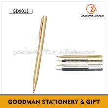 High quality metal hotel slim cross pen