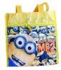 Reusable Despicable Me Minion Zippe Shopping Bag Zipper tote bag Handbag Shoulder Handbags