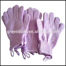 Low price best sell single viscose bath glove