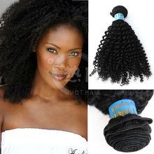Top qaulity Chinese human hair extension weft Virgin Kinky Hair Grade 5A+ Mongolian Kinky Curly Hair