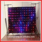WLK-1P18 Black fireproof Velvet cloth RGB 3 in 1 leds backdrop curtain flexible full color