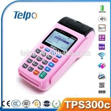 Telpo TPS300b wireless cdma lottery pos terminal keyboard