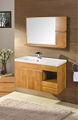 Gabinetes con lavamanos y espejo accesorio para baño muebles de madera sólida
