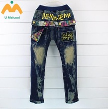 Supply The Spring And Autumn Period And The Han Edition B3306/3.2 New Half Turn Pocket Male/Female Children Cowboy Pants/Panty/C