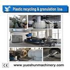 Plastic extruder film granulator machine