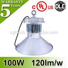 newest design led dock light miners light 100w UL DLC LED warm white cool white 5 years warranty high bay light 100w