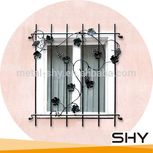 Window grill design latest window designs window product on alibaba - Lowes Wrought Iron Window Grill Design For Outdoor Windows