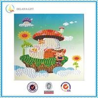 DIY mosaic art as educational toy for fungus