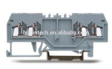 Spring din rail clamp 4.0sq.mm screwless terminal block