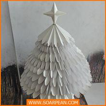 Christmas decoration fashion white artificial paper Christmas tree