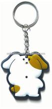 Lovely rabbit pvc keychain fashion keyring for export yiwu factory