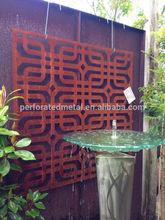 exterior laser cut metal screen/garden wall/outdoor partition