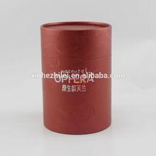 Red tube paper cosmetic jar packaging box