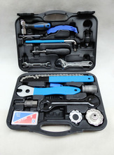17pcs professional bicycle repairing tool box/tool kit/work-box