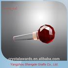 K9 Red crystal diamond wine stopper