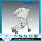 4 Wheel aluminium alloy airport trolley cart/shopping trolley foldable